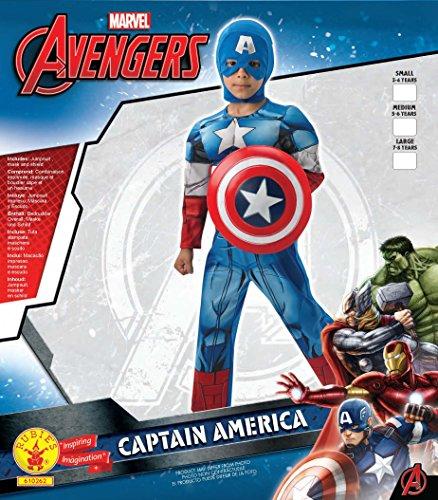 Imagen de rubie's  disfraz infantil, diseño capitán américa de marvel, talla m 3610262  alternativa