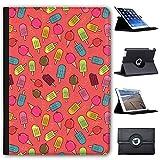 Bunte Eiswaffeln & Eis am Stiel Case Cover / Folio aus Kunstleder für das Apple iPad 9.7' 5th Generation (2017)