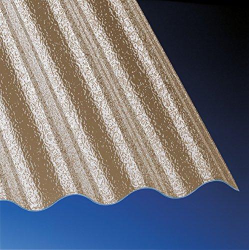 Acryl Wellplatten Profilplatten Sinus 76/18 C-Struktur bronce 2500 x 1045 x 3,0 mm