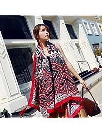 529d13bc7f9b SAIBANGZI Femmes Printemps Et Été Super Grand Coton Écharpe Femme Écran  Solaire Foulards National Vent Châle