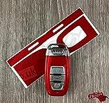 Rot Metall Schlüssel Wrap Cover Audi Smart-Fernbedienung A1A3A4A5A6A8TT Q35Q7