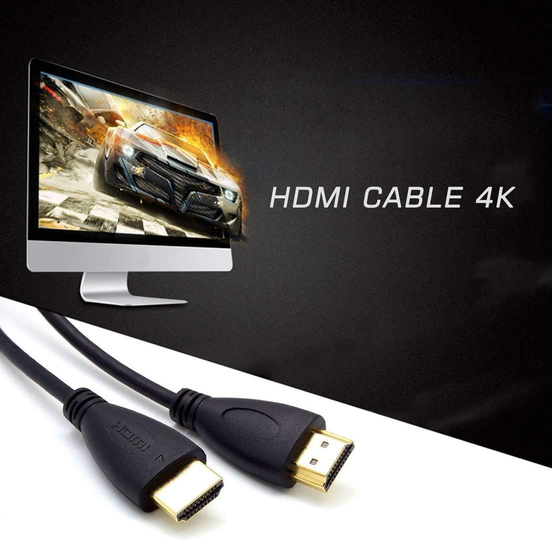C/âble HDMI 1.4 3D TV multifonctionnelle Ultra HD Ultra Slim C/âble de Connexion Haute d/éfinition Ligne Haute Vitesse pour Utilisation /à Domicile DFHJSXD