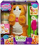 This cuddly little kitty toy has all the cuteness of a real kitten, and she responds to you like one! She pounces and moves her paws when you wave her kitty toy at her or pet her forehead. When you press her back or squeeze her front right paw, she m...