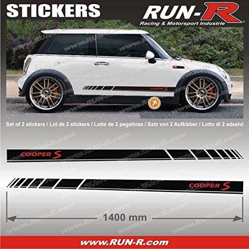 run-r-stickers-pegatinas-de-mini-diseno-con-texto-coopers-s-140-cm-color-negro-y-letras-en-color-roj