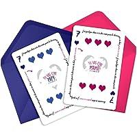 Duo de cartes à gratter Papy et Mamie - annonce grossesse grands-parents