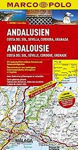 MARCO POLO Karte Andalusien, Costa del Sol, Sevilla, Cordoba, Granada 1:200.000 (MARCO POLO Karte 1:200000) hier kaufen
