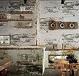 Vlies Tapete Wandtapete Brick Brick Brick Brick Brick Brick Brick Brick Wall Grauzement Mauer Industrial Wind Antiken Hintergrund Wand Tapeten, 0,53 * 10 M, D