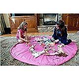 Enfant Jouer Mat bébé Pliable Toy Sac de rangement pour enfants Tapis enfant Toy Organizer 60 pouces 150cm (Rose)
