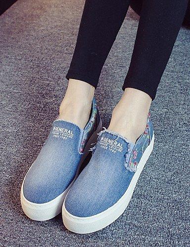 Shangyi Gyht Chaussures Femme - Ballerines / Mocassins / Sans Lacets - Loisirs / Décontracté - Plateau / Creepers / Confortable / Bout Arrondi - Plateau - Bleu Clair
