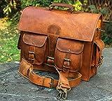Leder Laptop Aktenkoffer Messenger Satchel Bag, handgefertigte Vintage Leder Rustikale Ledertasche