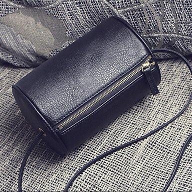 2017 Neue einfache Kissen Fässer Messenger Bag runde Tasche Schultertasche runde Tasche Black
