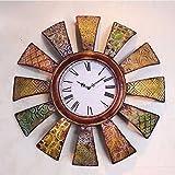 fwerq fer de style européen classique Artisan Mode Horloge murale, salon de l'horloge du club de décoration de luxe
