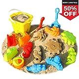 SGILE 13 Stk Sandformen Set Sandspielzeug Sandkasten Set für Kinder Strandspielzeug Kindergeschenk (Farbe wird zufällig geliefert)