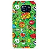 Comic-Aktionen Grün Bang Pow Wow Crash Hartschalenhülle Telefonhülle zum Aufstecken für Samsung Galaxy S6 Edge (SM-G925)