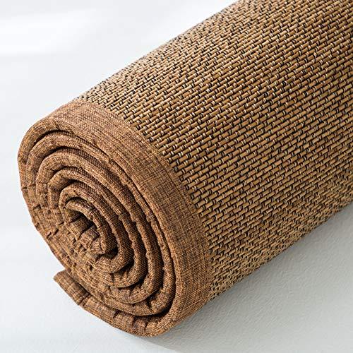 YANGLAN Vintage Bambus Teppich, Natürliche Bambus Erker Fensterkissen, Wohnzimmer Schlafzimmer Matte, Sommer Kühle Fenstermatte A 0.5X1.5m -