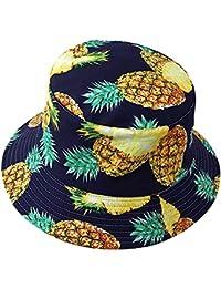 Tacobear Unisex Pescador Sombrero Bucket Gorro Bucket Hat Verano con Estampado de Frutas Sombrero de Sol Aire Libre Plegable Gorra Protección contra Sol UV para Hombre y Mujer