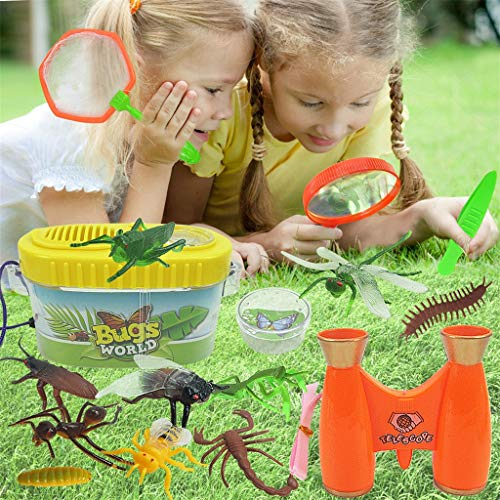 Dkings Insect Animals Wit Teleskop fangen Netz Outdoor Insektenbeobachter Capture Set von 20 Kinder Spielzeug