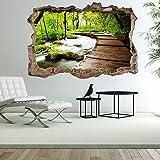murando - 3D WANDILLUSION 210x150 cm Wandbild - Fototapete - Poster XXL - Loch 3D - Vlies Leinwand - Panorama Bilder - Dekoration - Natur c-C-0104-t-a