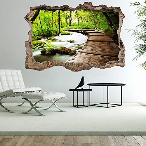 3D WANDILLUSION 210x150 cm Wandbild Fototapete Poster XXL Loch 3D Vlies Leinwand Panorama Bilder Dekoration Natur c-C-0104-t-a