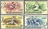 Tchécoslovaquie 1592-1595 (complète.Edition.) 1966 patinage artistique (Timbres pour les collectionneurs) Autres sports...