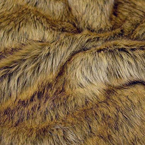 TOLKO 50cm Wolf Kunstfell   kuschelig weiches Fellimitat mit 4cm Florhöhe   Teddy Plüschstoff Webpelz   zum Nähen, Dekorieren und Basteln   Meterware am Stück (Wolf)