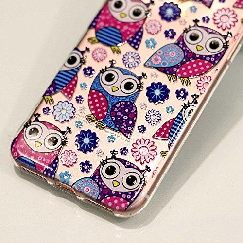 BENKER 3x iPhone 7 Hülle, Kreativ Anti-Kratz Nicht Verblassen 3D Relief Malerei TPU Silikon Telefon Fall - Paket 4 Paket 4