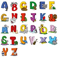 lepni.me Wall stickers Educational English Alphabet Wall Art Stickers ABC Letters Animals Cartoon Decals Kids Room or Classroom Decoration