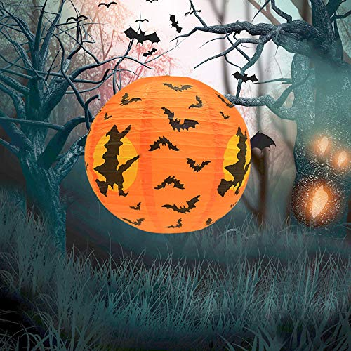 VICKY-HOHO Neue Halloween Papier Kürbis hängen Laterne DIY Urlaub Party Dekor beängstigend - D Hunde Alle Kostüm