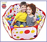Tech Trades® Kids Ball Pit Ball Tent Toddler Ball Pit with Red Zippered Storage Bag for Toddlers Pets 39.4-inch by 19.7-Inch (Balls not Included)