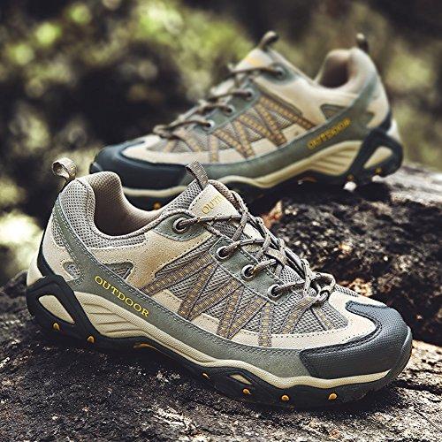 Wandern Schuhe Antiskid Trekking Männer Frauen Unisex Paar Outdoor Breathable Klettern Schuh,Khaki-41