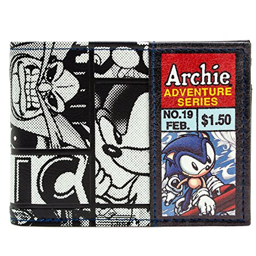 Sega Sonic the Hedgehog Archie Comic Schwarz Portemonnaie (Aus Sonic Knuckles Kostüm)