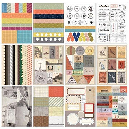 Süßes Bogen Täglich Dekoration Sticker Set Etiketten DIY Deco Scrapbooking