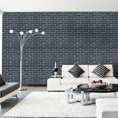 PanDaDa 3D Wall Sticekrs, 45 * 100cm Self Adhesive PVC Wallpaper Peel And  Stick