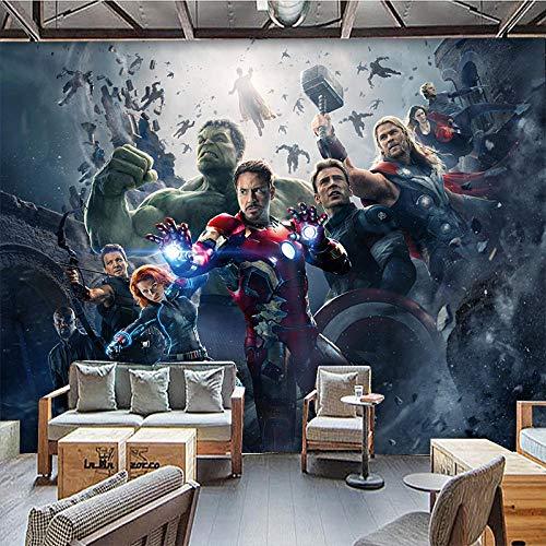 LHBHX Fototapete 3D Selbstklebend (B) 200X (H) 150Cm Filmfigur League Americans Comics 3D Fototapete Kinderzimmer Tapeten Wohnzimmer Schlafzimmer Kinderzimmer Wandfoto Wandkunst