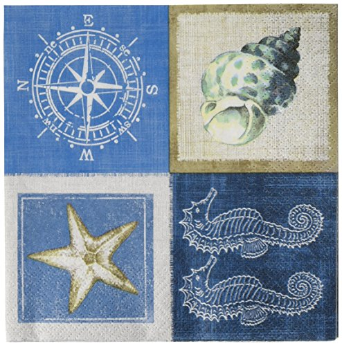 Abbott Collection Sea Life Servietten. 20 Stück (Nautilus-muschel Papier)