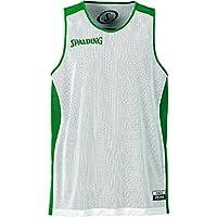 Spalding - Camisa de baloncesto, color verde / blanco,  talla XS