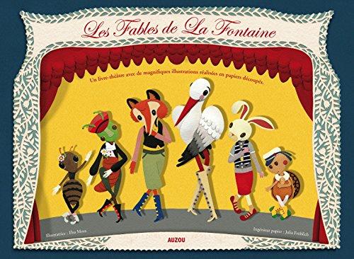 FABLES DE LA FONTAINE  (papiers découpés en relief) par La Fontaine