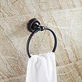 beelee Messing Bad Handtuchhalter Handtuch Ring Handtuchhalter Badezimmer Zubehör Moderne Hotel Stil Wandhalterung, Bronze gebürstet