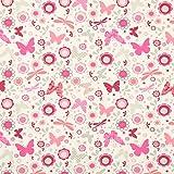 Fabulous Fabrics Jersey Stoff Schmetterlinge – wollweiss