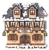 Kleine Figuren & Miniaturen Winterhaus Gasthof beleuchtet - 15cm - Hubrig Volkskunst