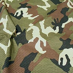 TOLKO Camouflage Stoff aus Baumwolle | Robust, Farbecht und UV-beständig | Uniform Meterware im belgischen Armee…