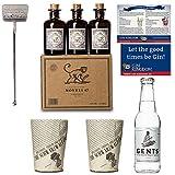 Monkey 47 Set | 6x Monkey Gin Minis | 2x Monkey Becher | 1x Stirrer | 1x Gents Tonic Wasser | 1x Magnet und Gin-Cocktailkarte | Ideales Geschenk-Set