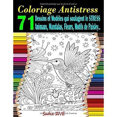 Coloriage Antistress: Livre de coloriage adulte anti-stress avec 71 dessins et modèles qui soulagent le stress : animaux, mandalas, fleurs, motifs de Paisley etc. (Coloriage Magique Adulte)