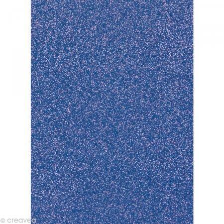 Preisvergleich Produktbild Glitterkarton 20x30cm brillant,  1 Bogen,  dunkelblau