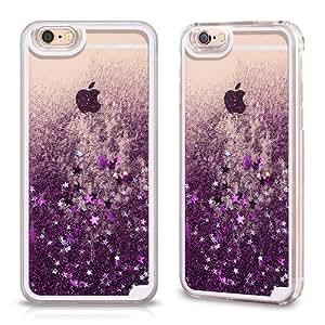transparent liquid purple glitter back case for apple electronics. Black Bedroom Furniture Sets. Home Design Ideas