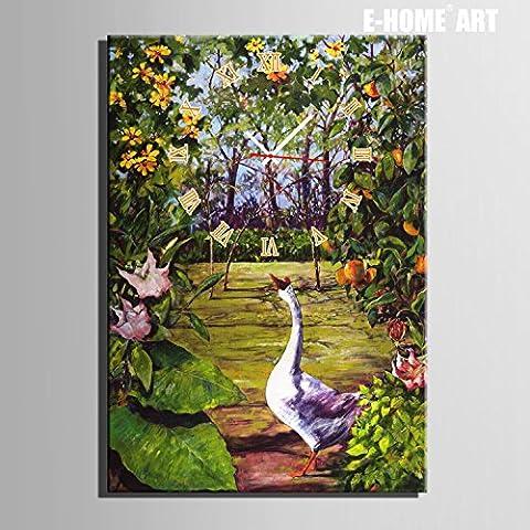 ZRF-pittura Clock Ristorante di camera E pittura decorativa soggiorno camera da letto per bambini, giardino non orologio scatola,35 * 50CM?senza