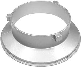 fotoconic 144mm/14,5cm Durchmesser Speed Ring Adapter Flansch Speedring Softbox für Bowens S Flash/Monolight