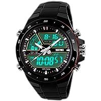 SunJas - Orologio sportivo da uomo, resistente all'acqua fino a 50 m, braccialetto digitale con luci, cinturino…