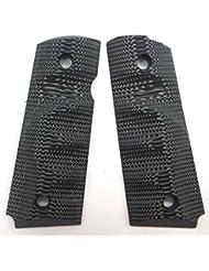 Cool Hand Grips 1911 G10 pour Pistol Officer Compact, Vis gratuite, Tenir En Texture Gris / Noir