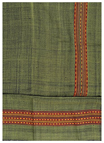 Exotic India Salwar Kameez Fabric From Kullu with Kinnauri Hand-Woven Border -...